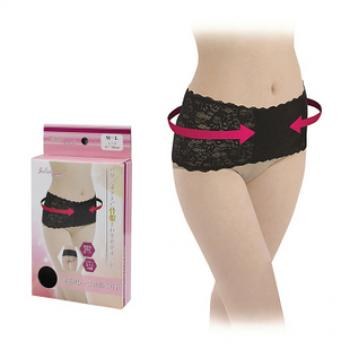 Japan Feeling Touch Lace Pelvis Correction Belt ♦BLACK♦